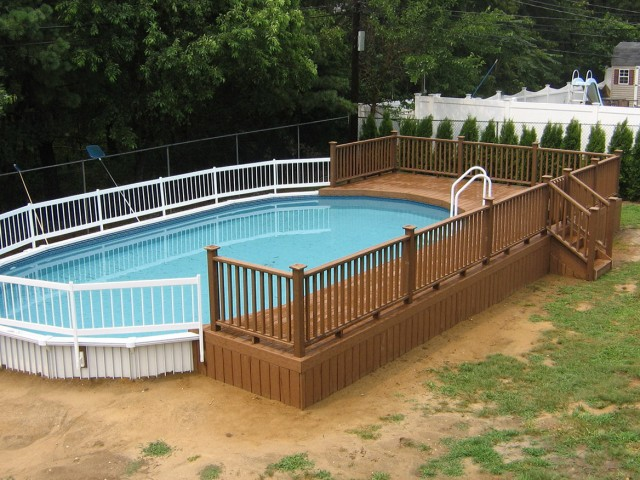 pool deck kits above ground - Above Ground Pool Deck Kits