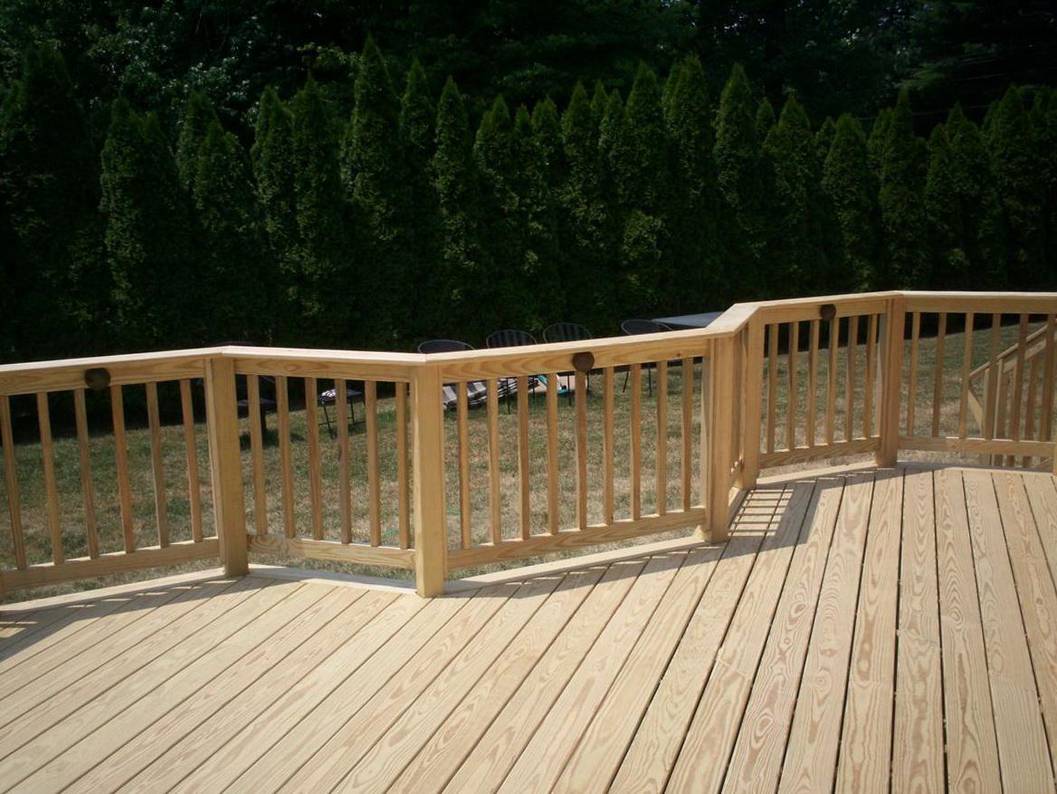 Pressure Treated Deck Railing
