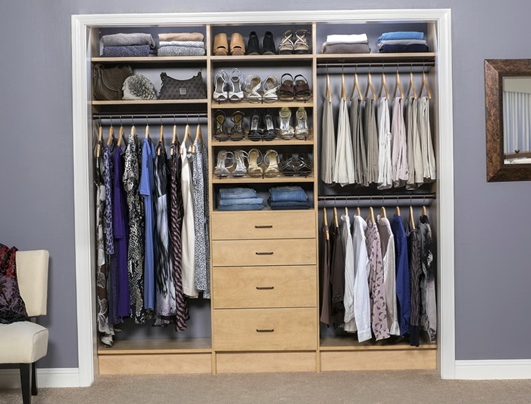 Reach In Closet Organization Ideas Home Design Ideas