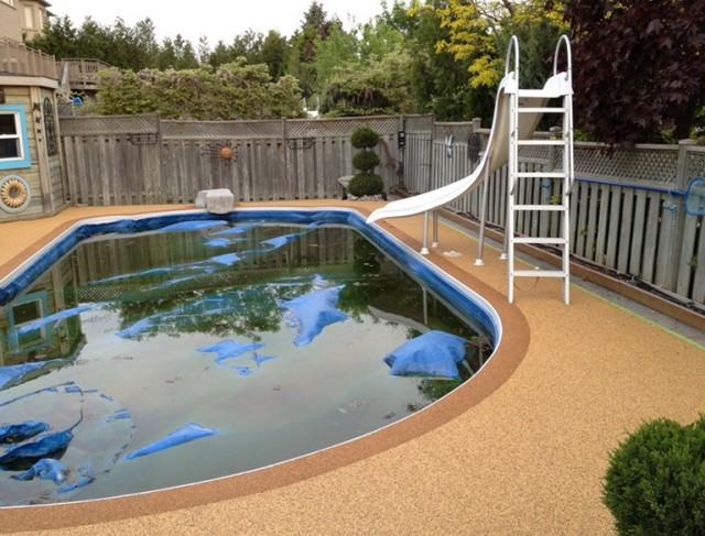 Rubber Pool Deck Materials