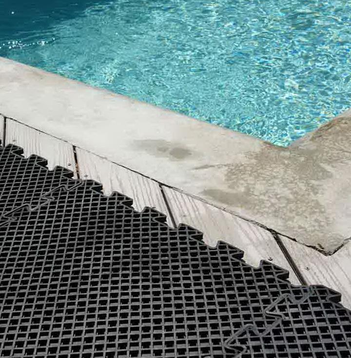 Rubber Pool Deck Mats