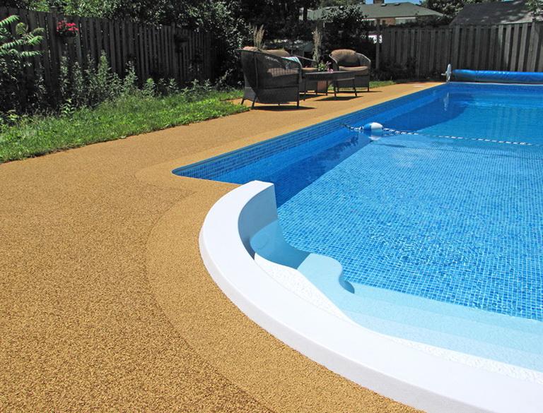 Rubber Pool Deck Surfacing