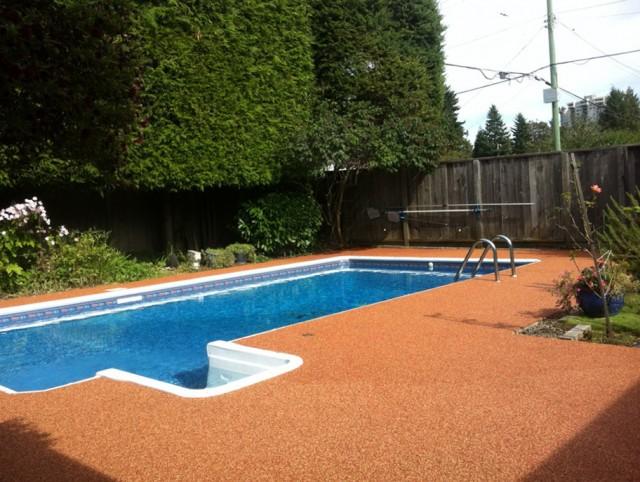 Rubber Pool Deck Tiles