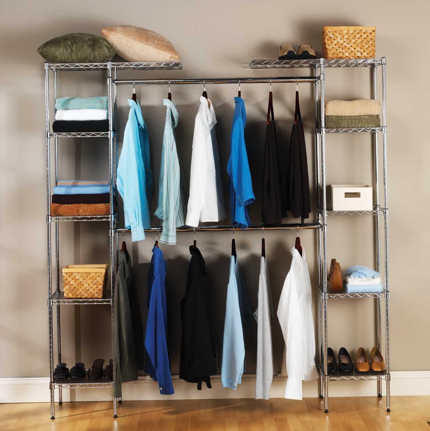 Seville Classics Expandable Closet Organizer System Home