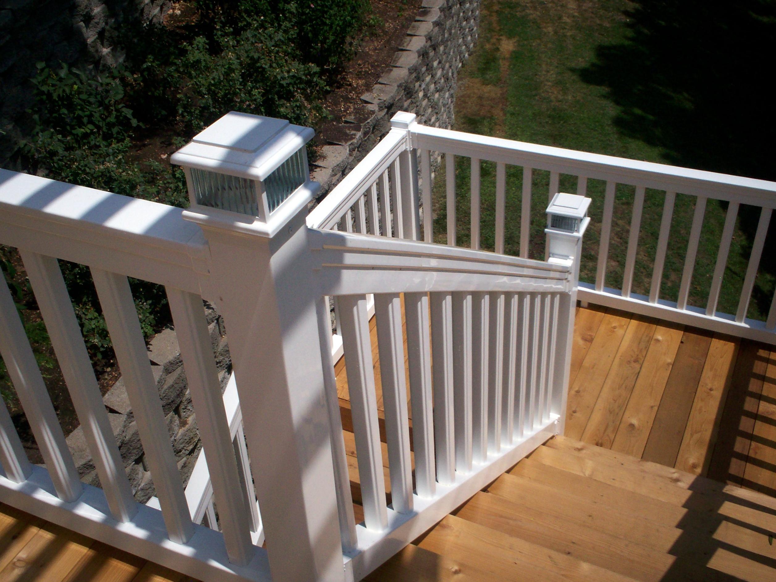 Standard Railing Height Deck Stairs