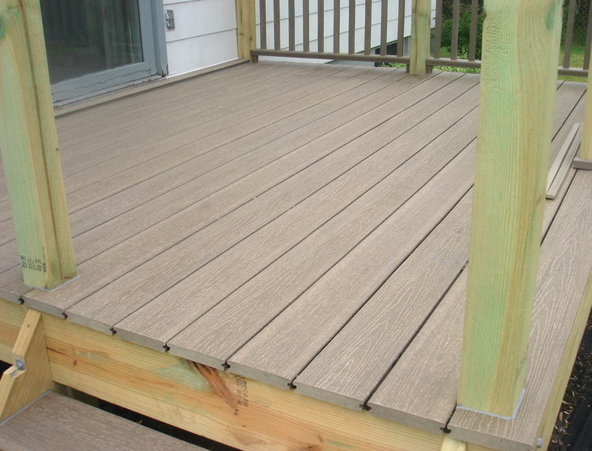 synthetic decking trex decking and railing vancouver 28 On synthetic deck material