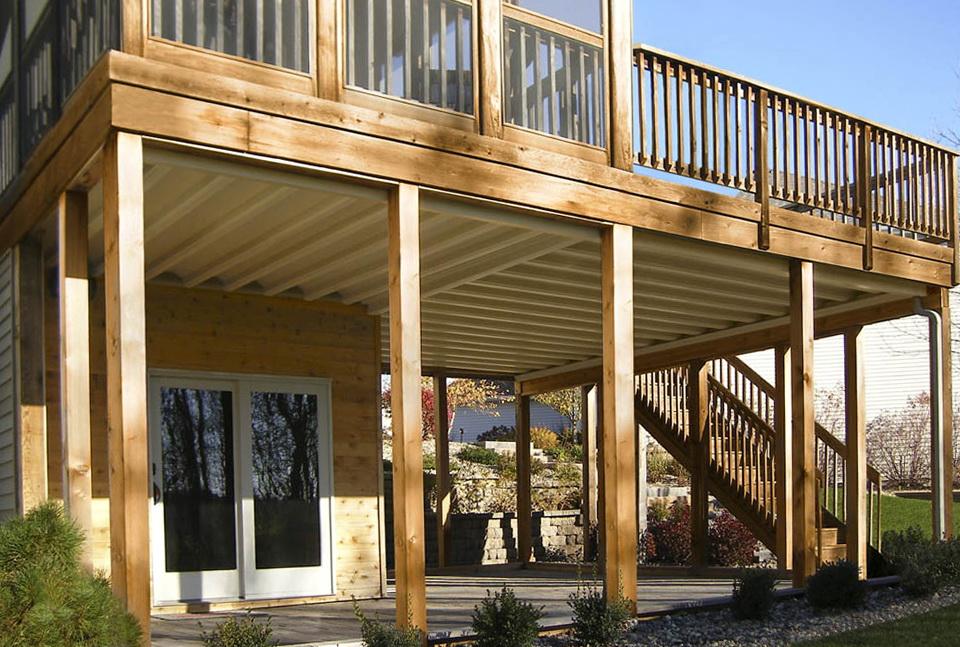 Under Deck Roof Slope Home Design Ideas