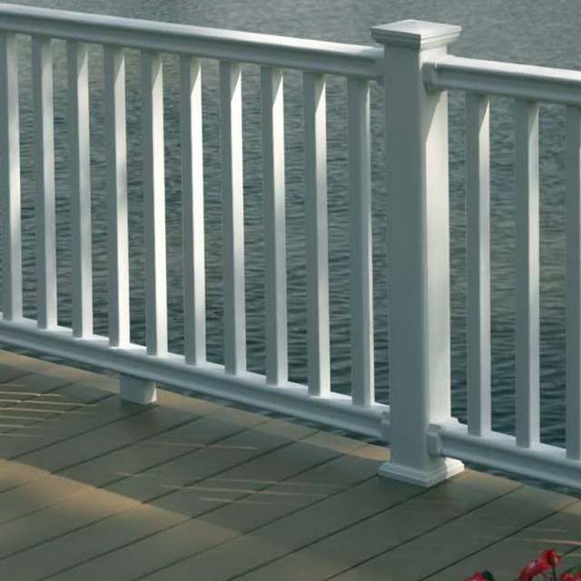 Vinyl deck railing systems lowes home design ideas - Vinyl deck railing lowes ...