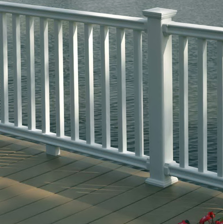 Vinyl deck railing colors home design ideas - Vinyl railing reviews ...
