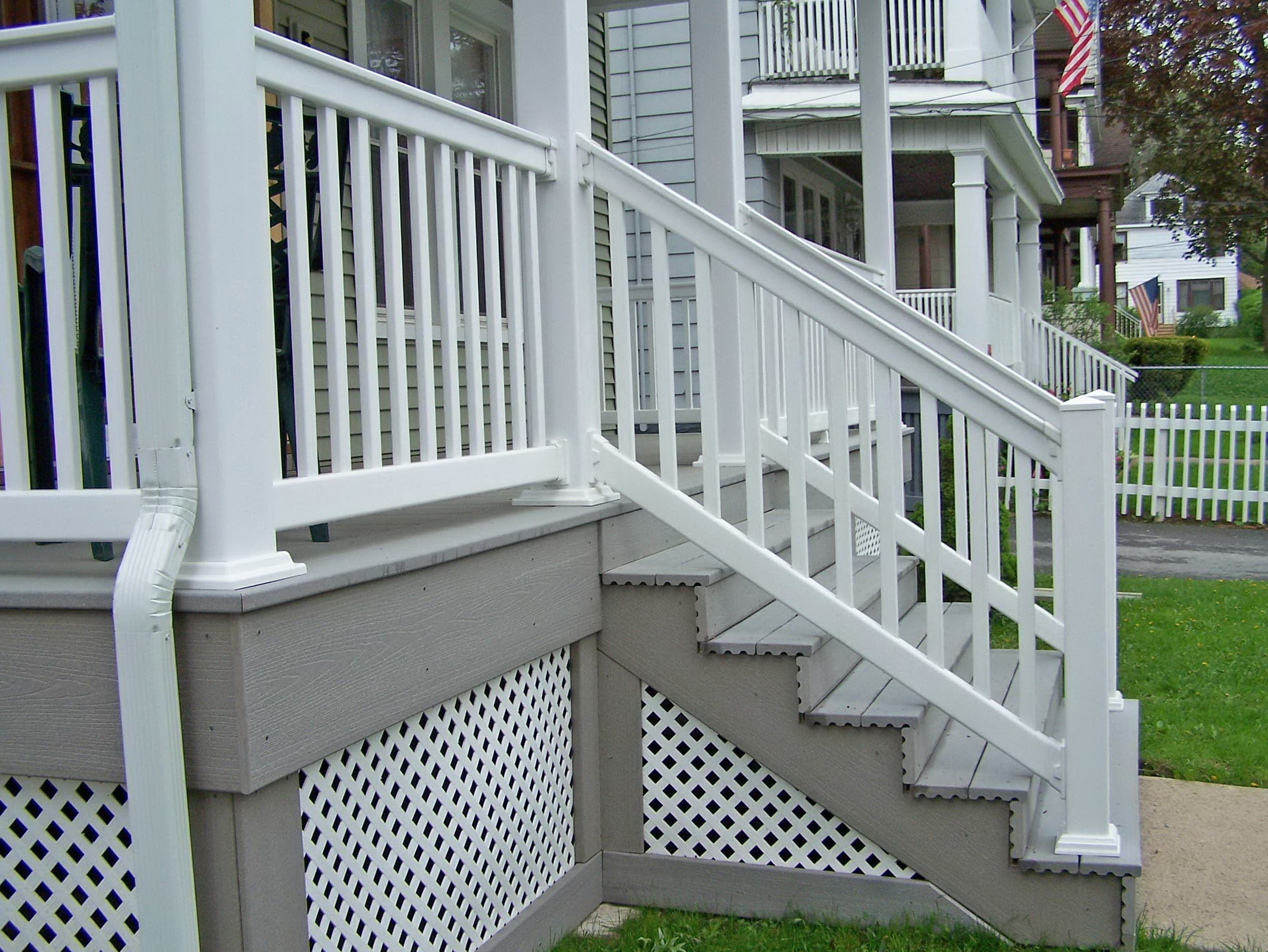 Vinyl Deck Railing Gate Home Design Ideas