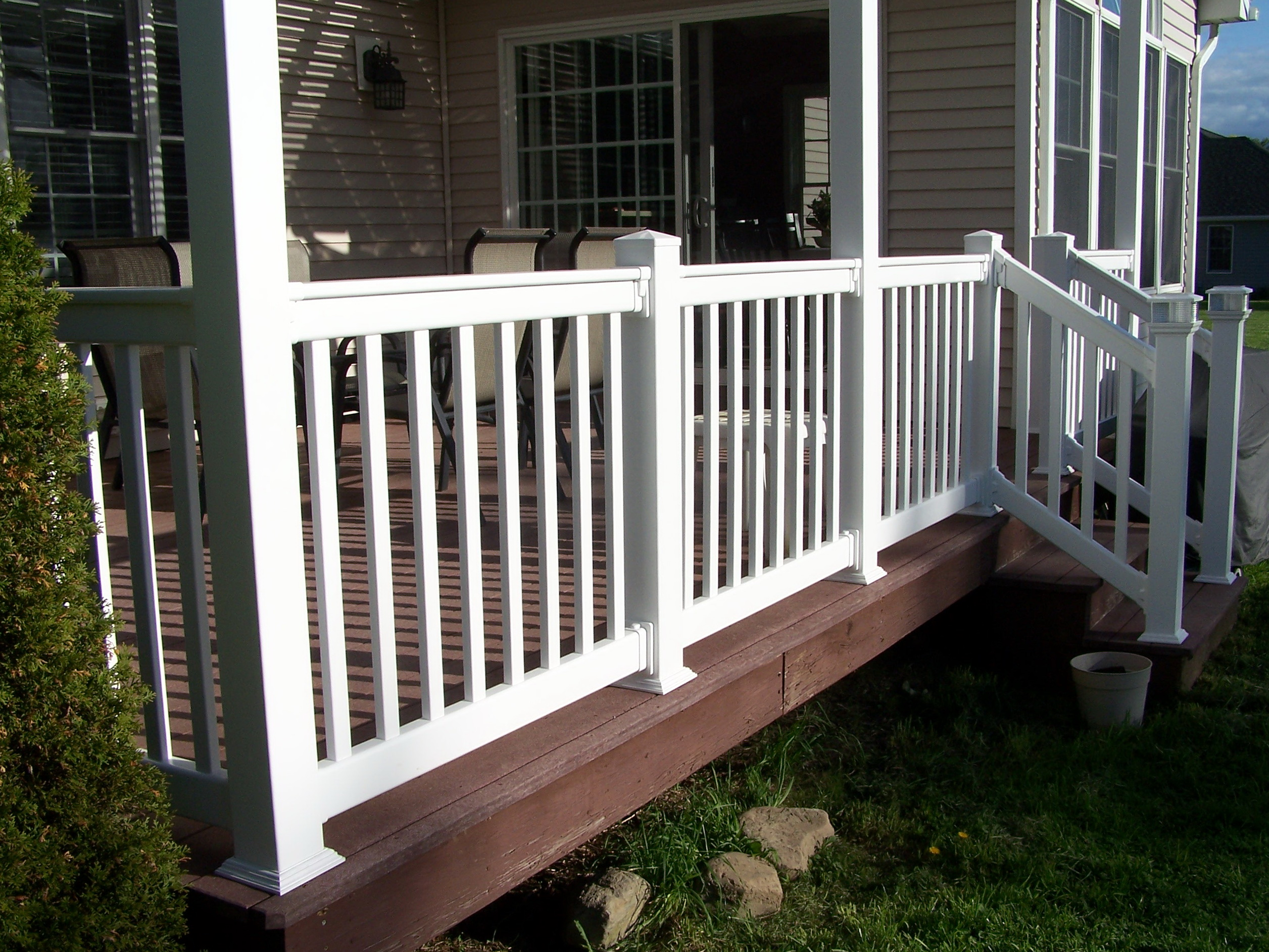 Vinyl Deck Railings Installation Home Design Ideas