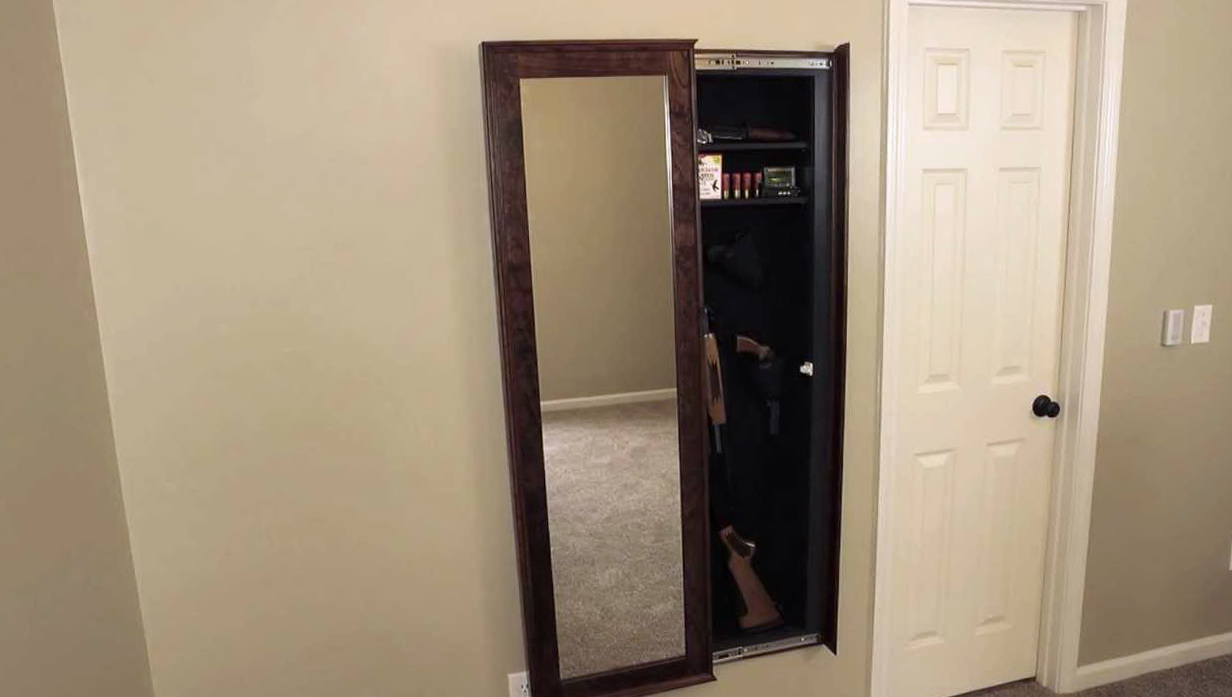 Walk in closet gun safe home design ideas for Walk in safes for homes