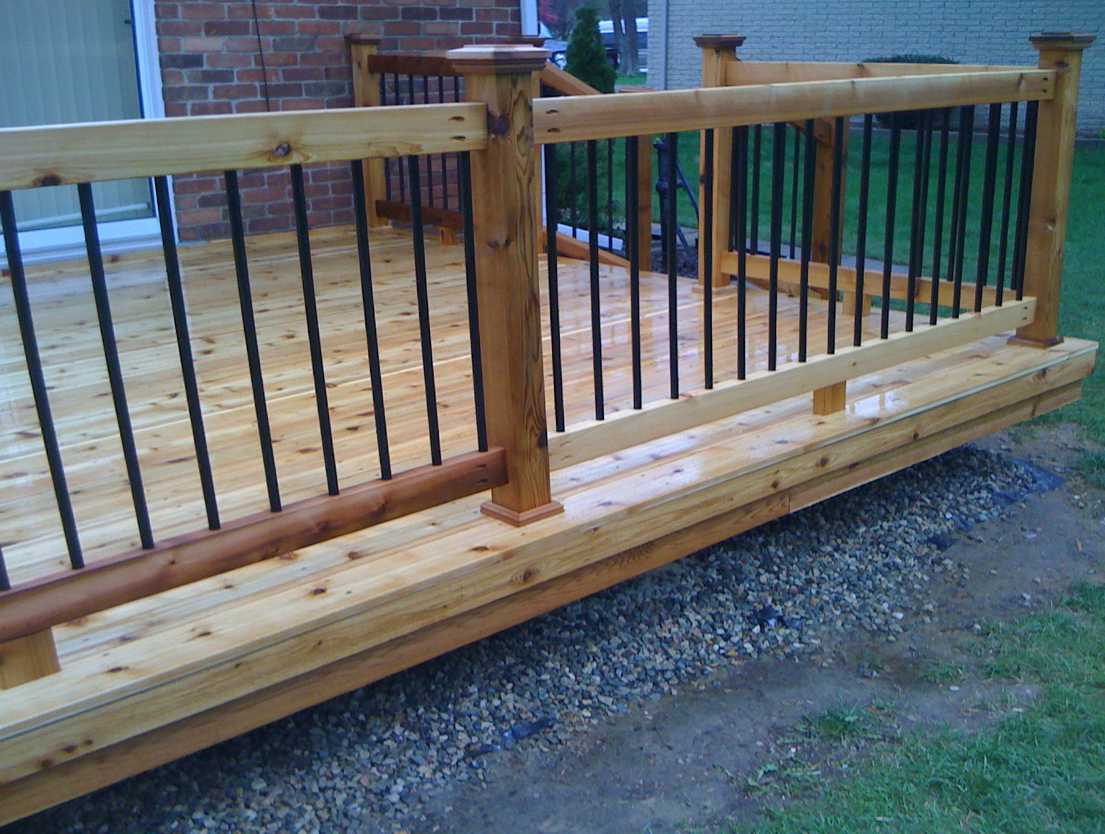 Wood Deck Railing With Metal Balusters | Home Design Ideas