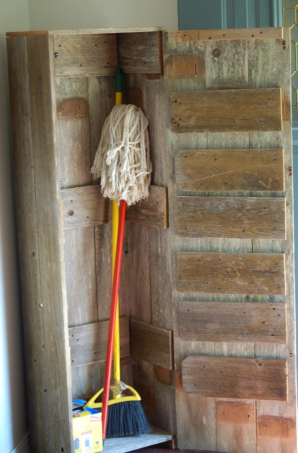 Wooden Broom Closet Cabinet Home Design Ideas