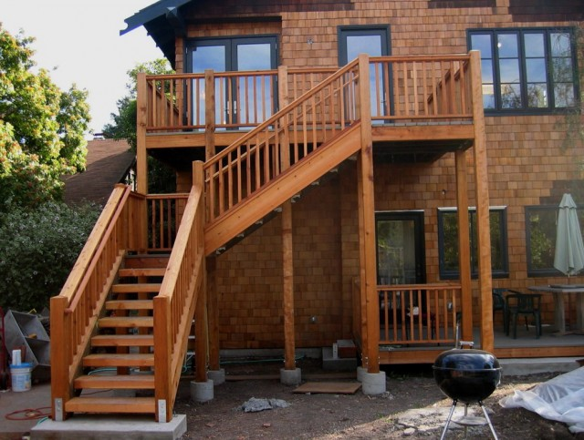 Wooden Deck Stairs Ideas