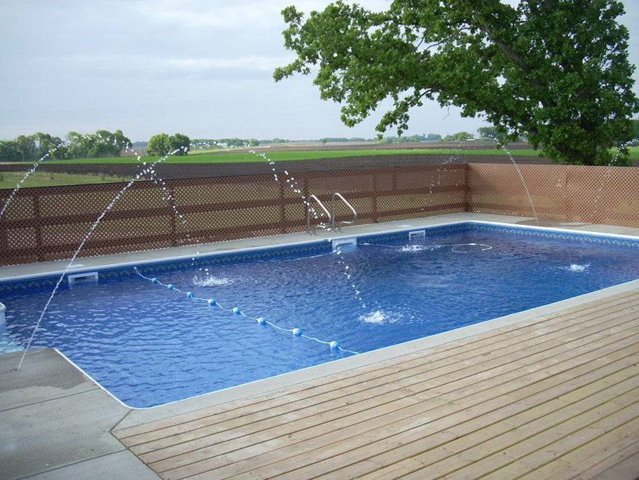 Wooden Pool Deck Ideas