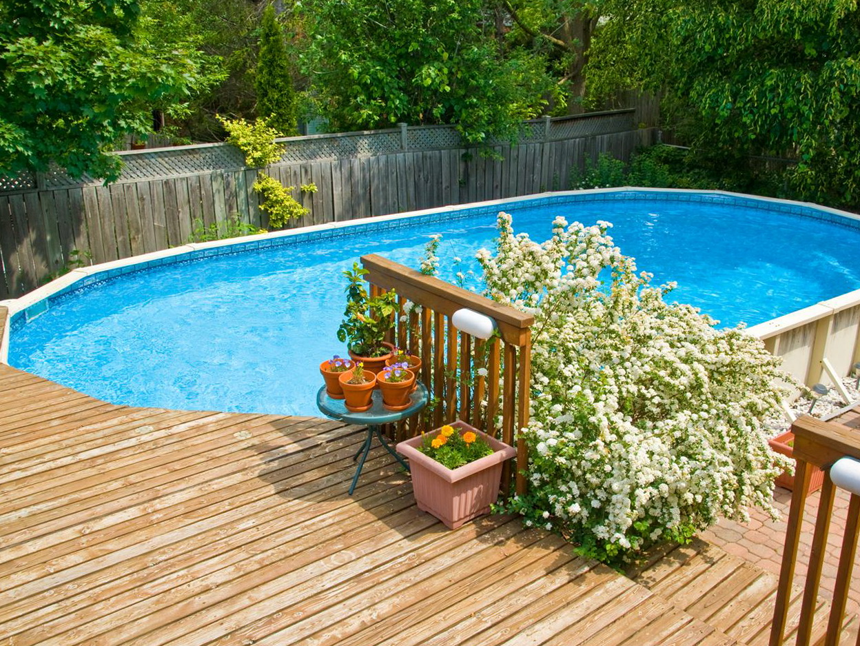 Above ground pool decks and landscaping home design ideas for Above ground pool decks nj