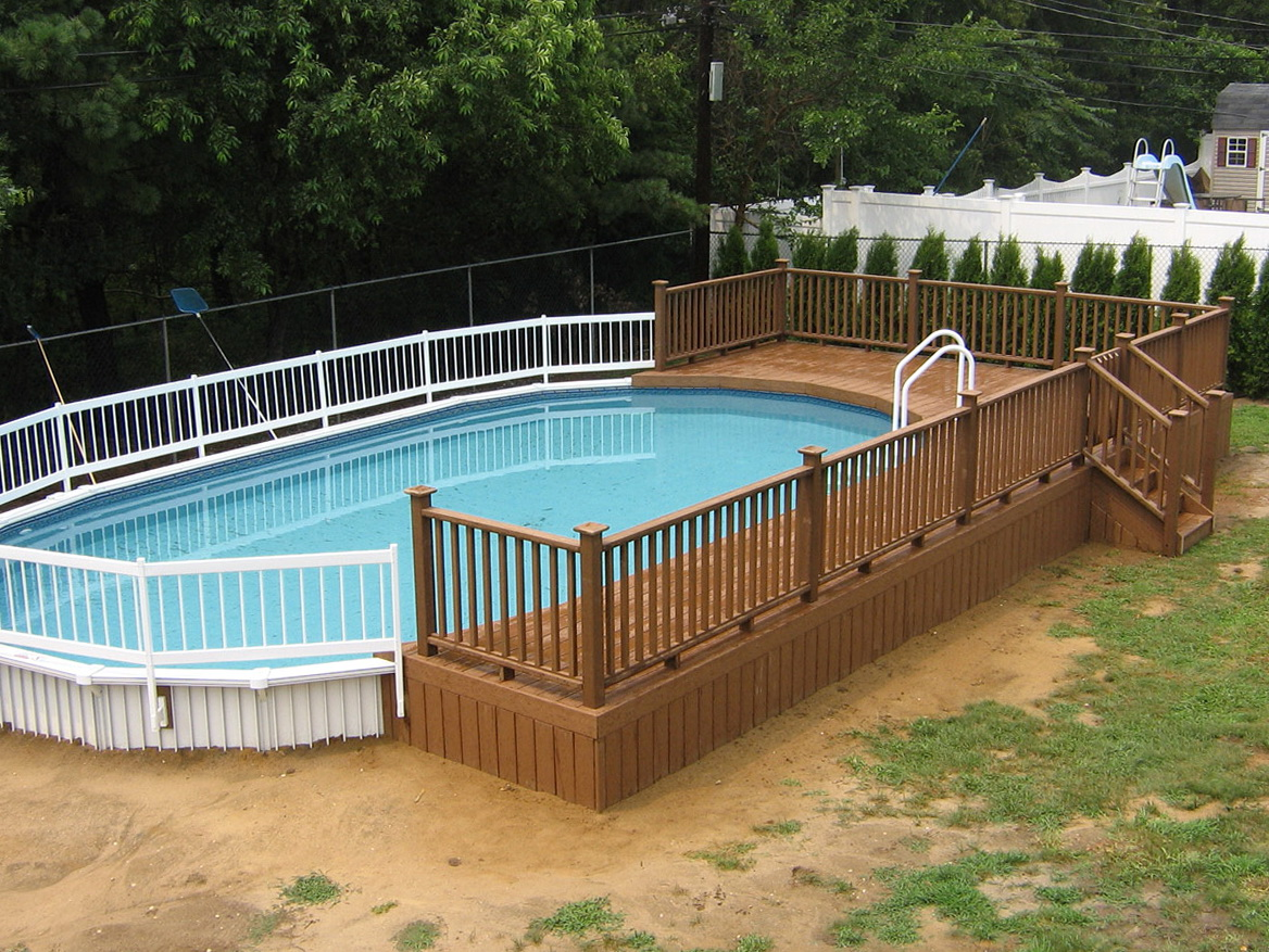 Above Ground Pools Decks Plans