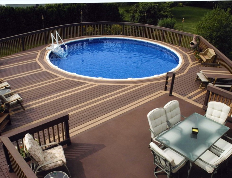 Pictures Of Sundecks Stairs And Benches: Above Ground Pools With Decks Installed Prices