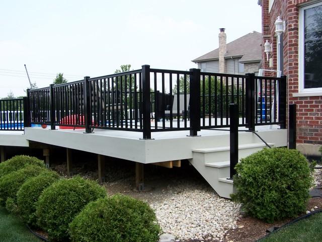 Aluminum Railings For Decks On Log House