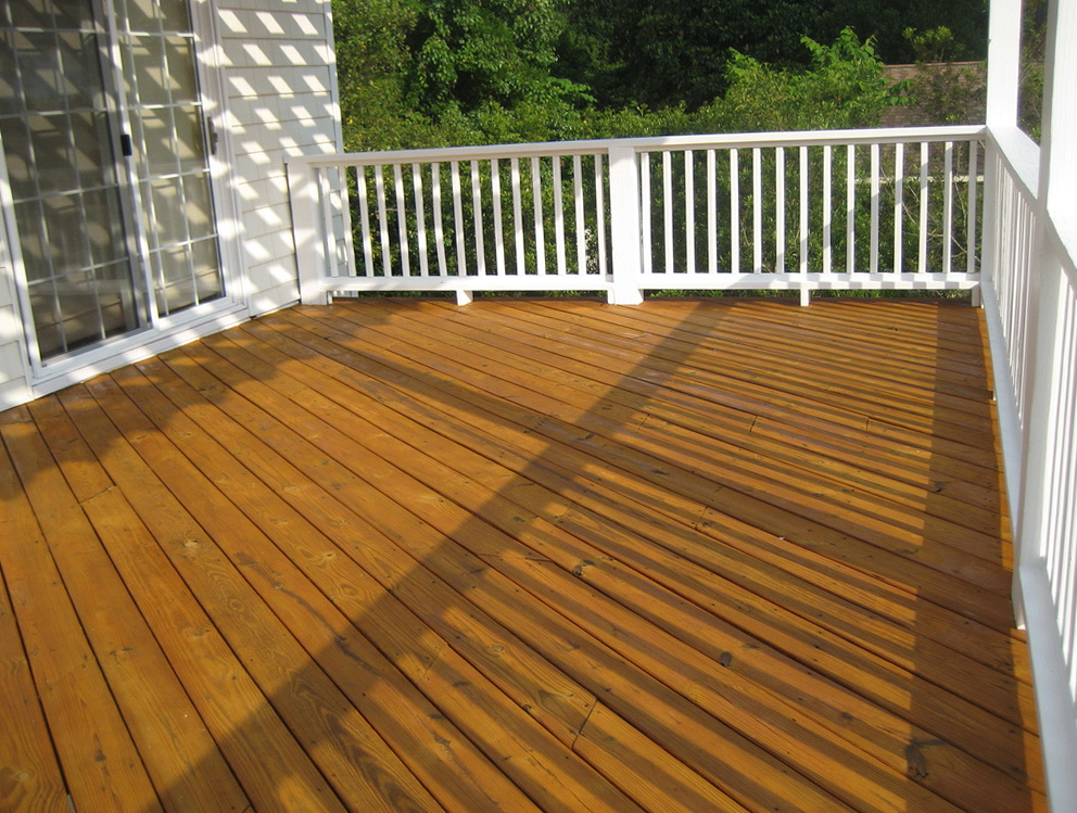 Best wood deck stain home design ideas for Best wood for deck