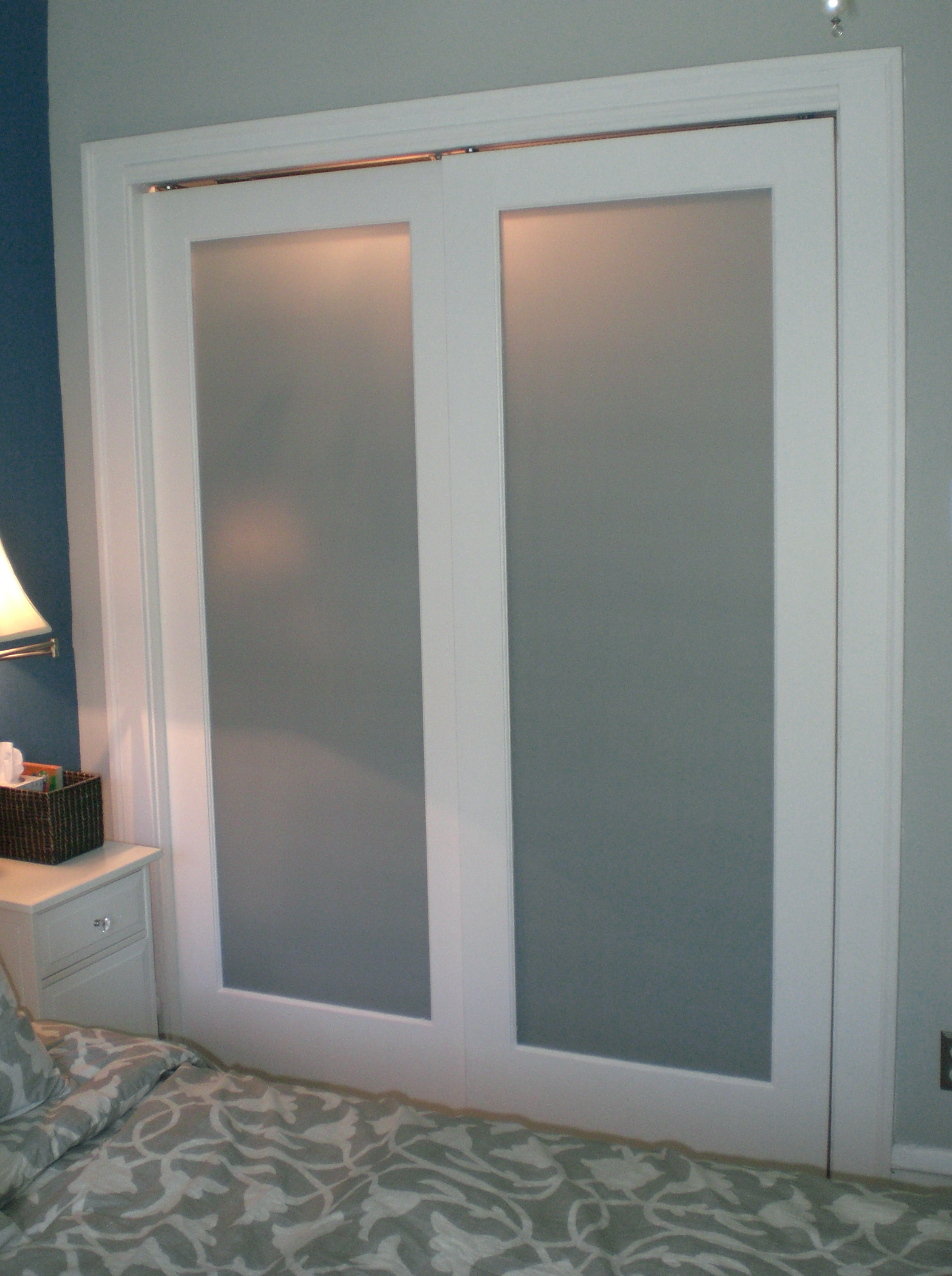 Bifold Frosted Glass Closet Doors Home Design Ideas