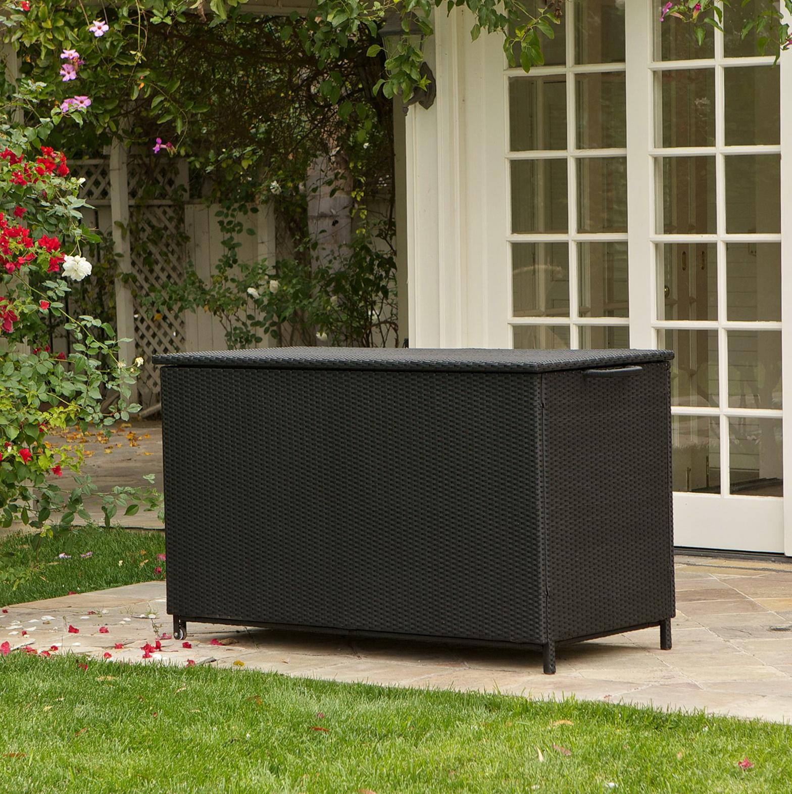 Black Deck Box Bench Home Design Ideas