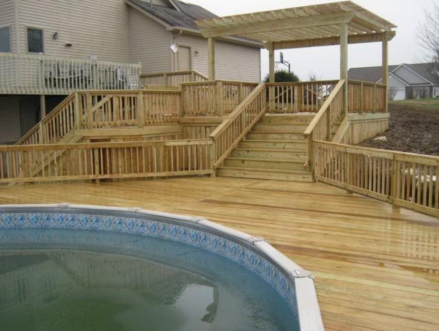 Build Deck Around Pool