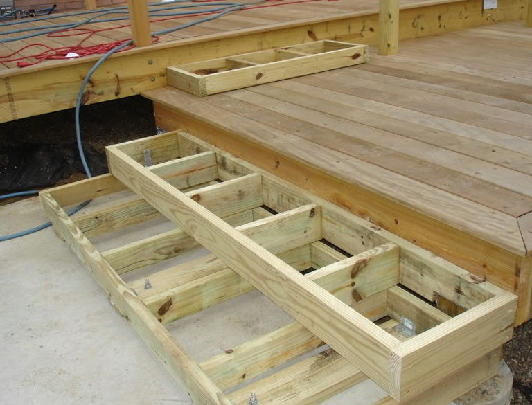 Build deck stairs calculator home design ideas for Things to consider when building a deck
