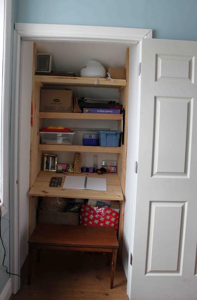 Build Desk In Closet