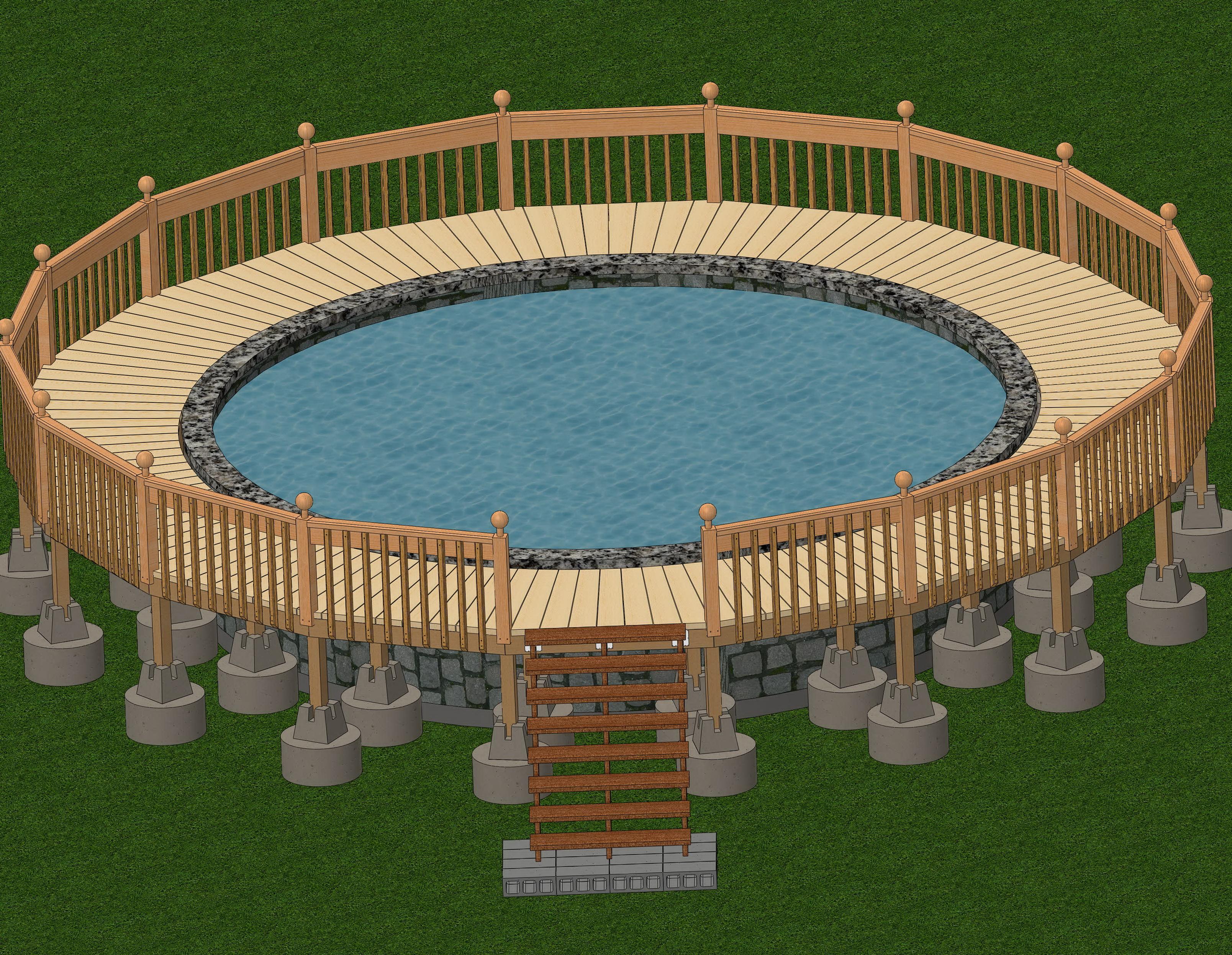 Building A Pool Deck Plans