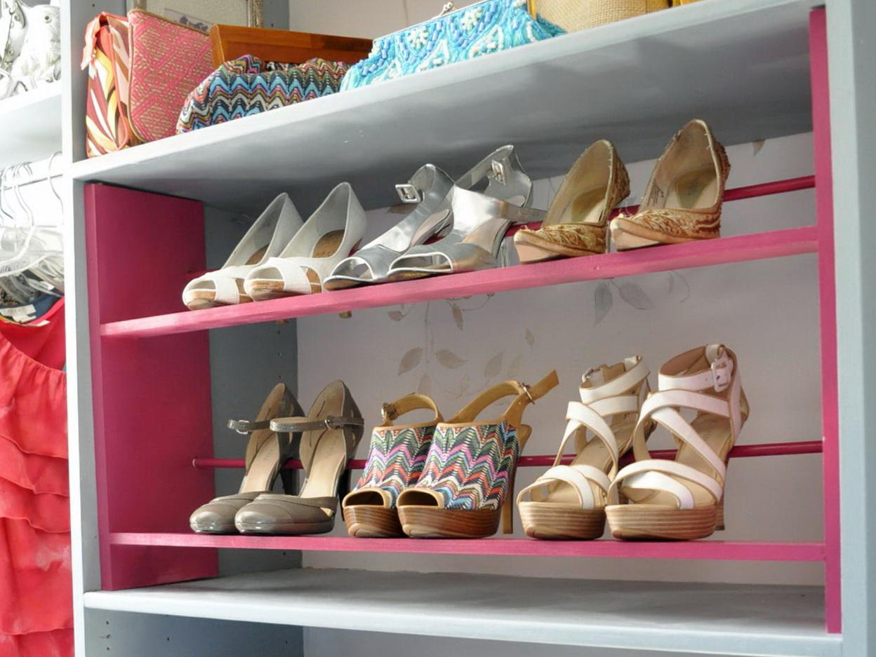 Building Shoe Shelves In Closet