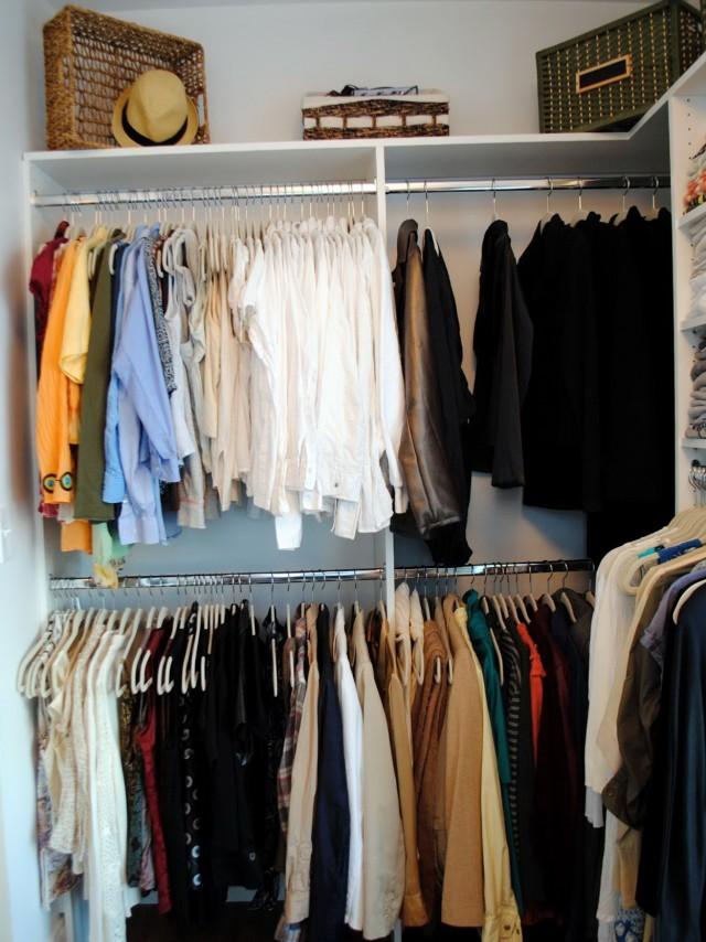 Closet Clothes Rod And Shelf