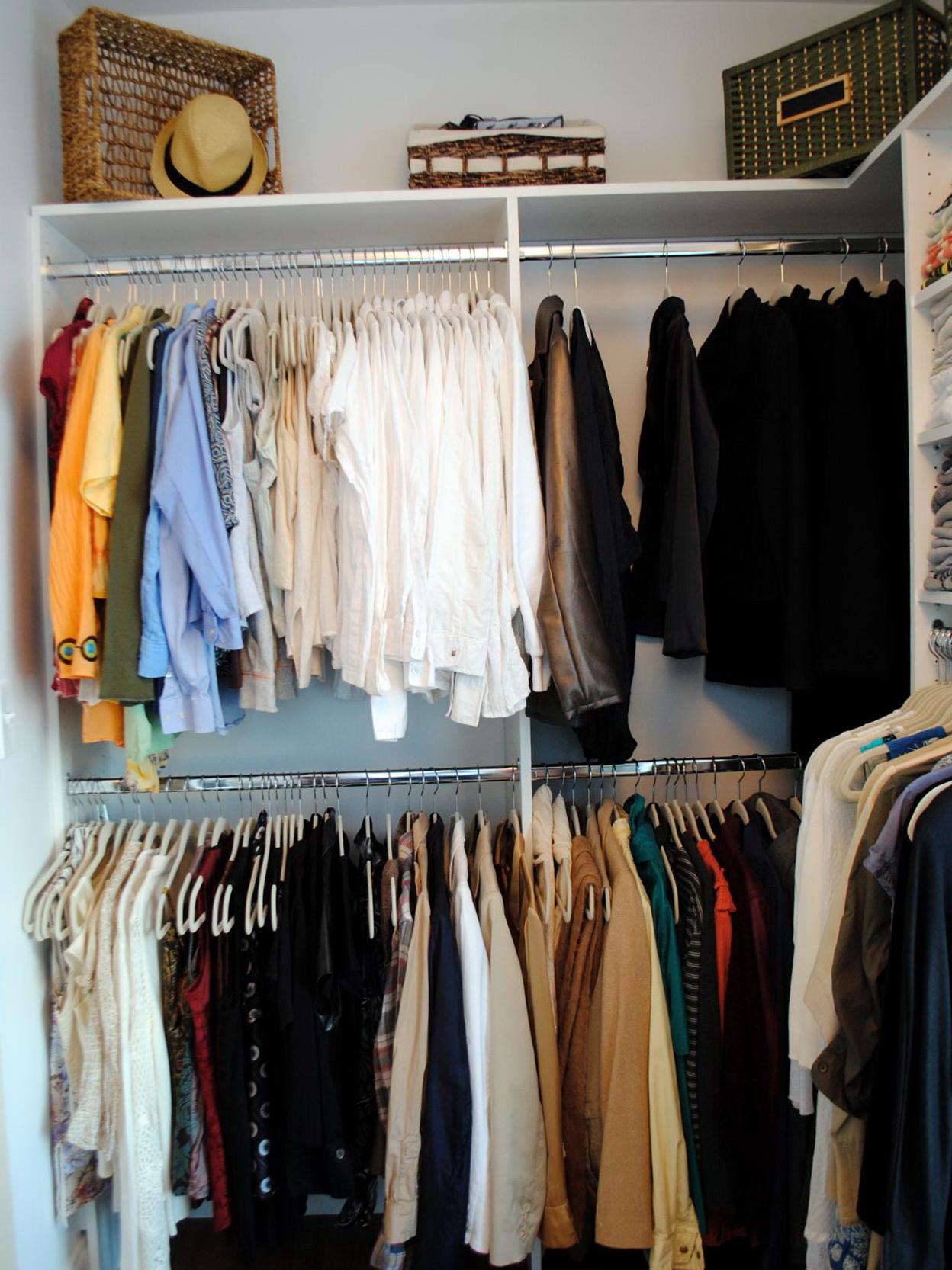 Closet Clothes Rod And Shelf Home Design Ideas