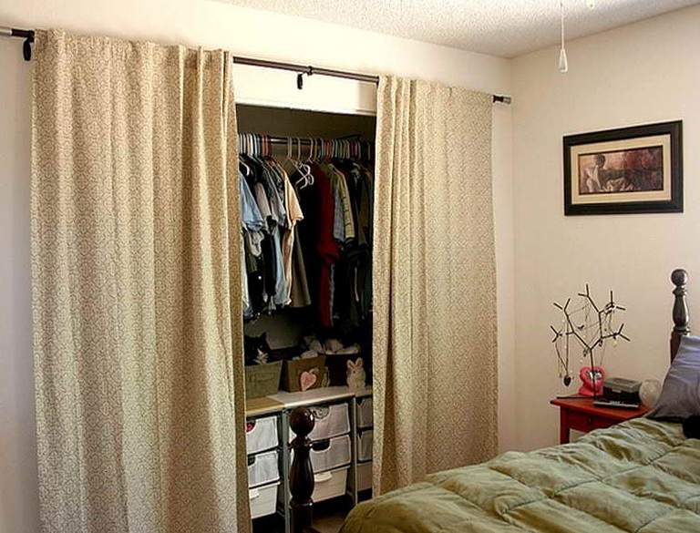 Closet door alternatives curtains home design ideas for Door substitute ideas
