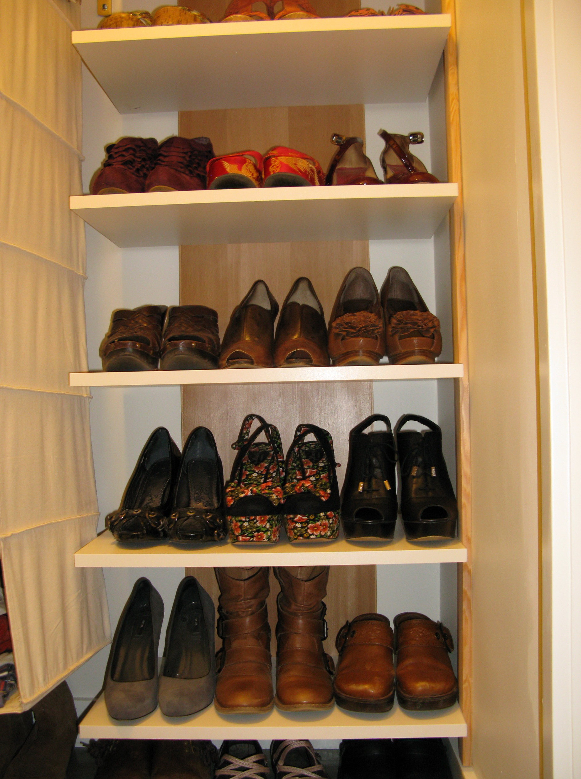 Closet Shoe Shelves Wood
