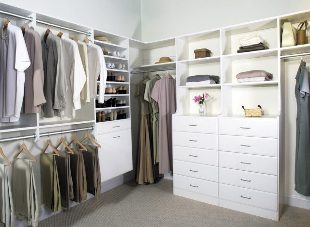 Corner Closet Organizer Plans