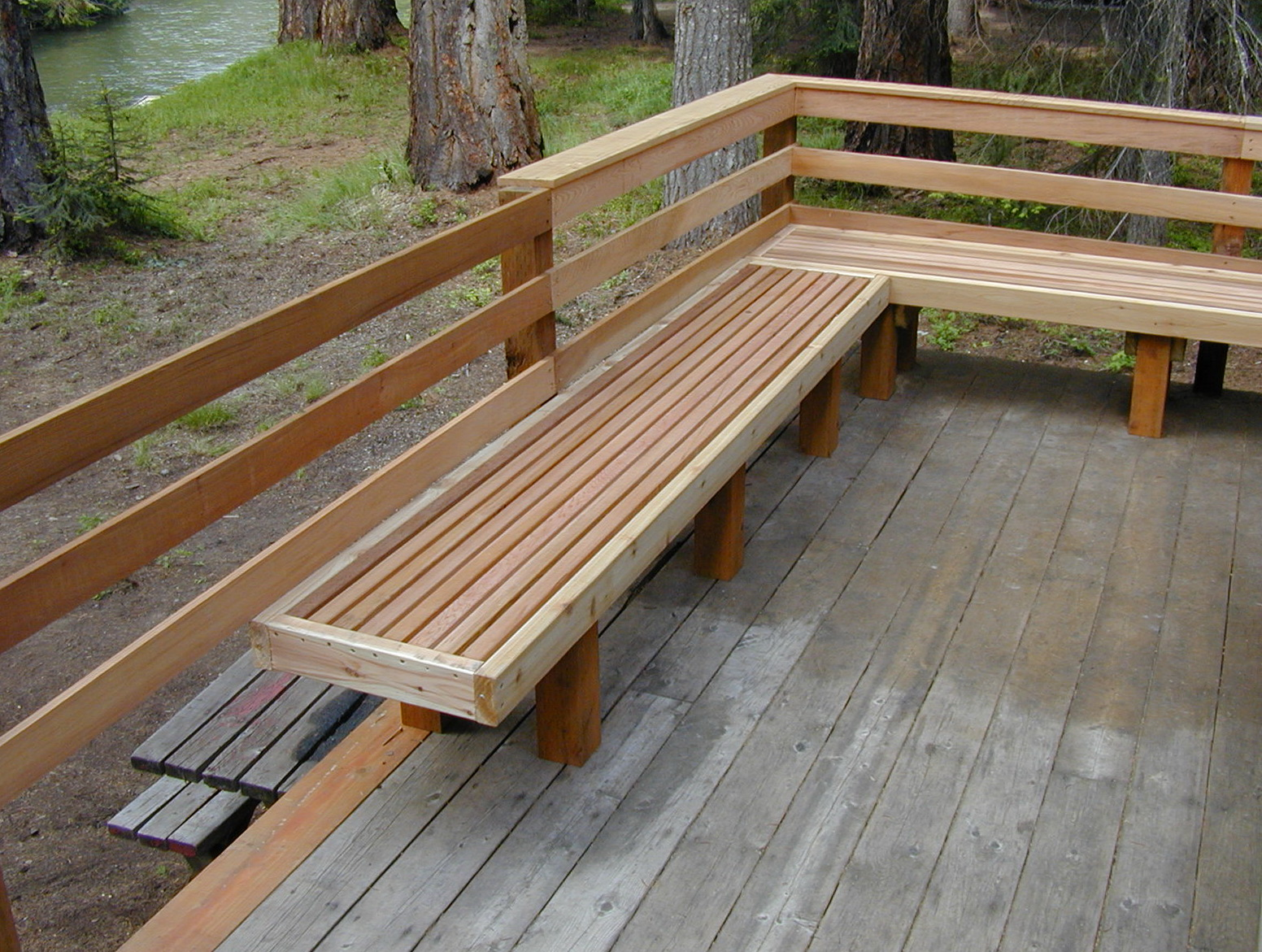 Bench Design Ideas Part - 44: Deck Bench Design Ideas