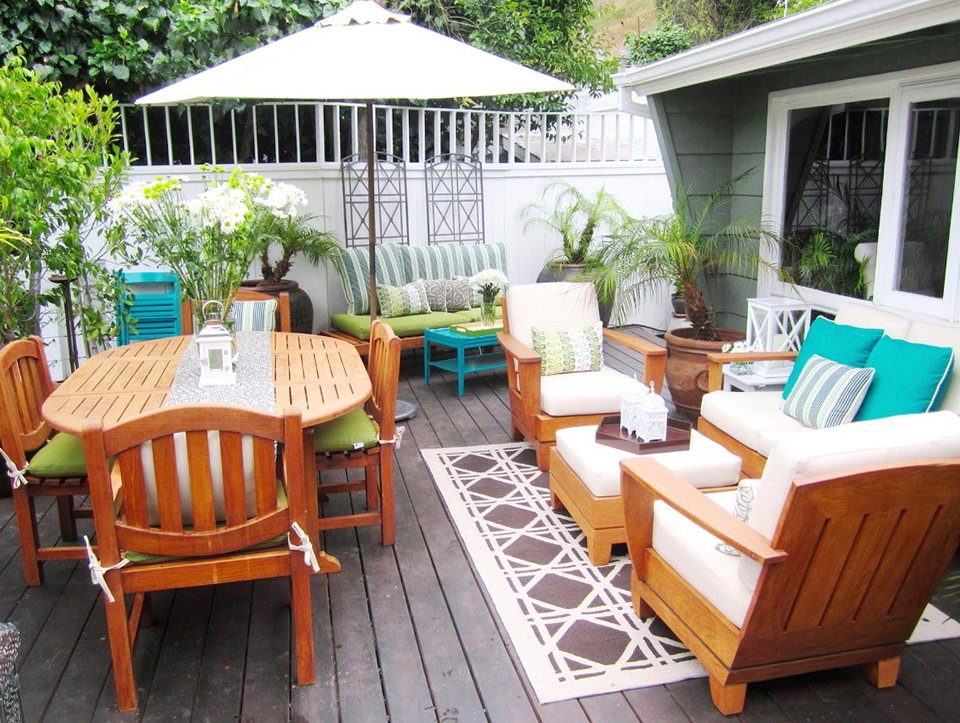 Deck Furniture Layout Ideas Home Design Ideas