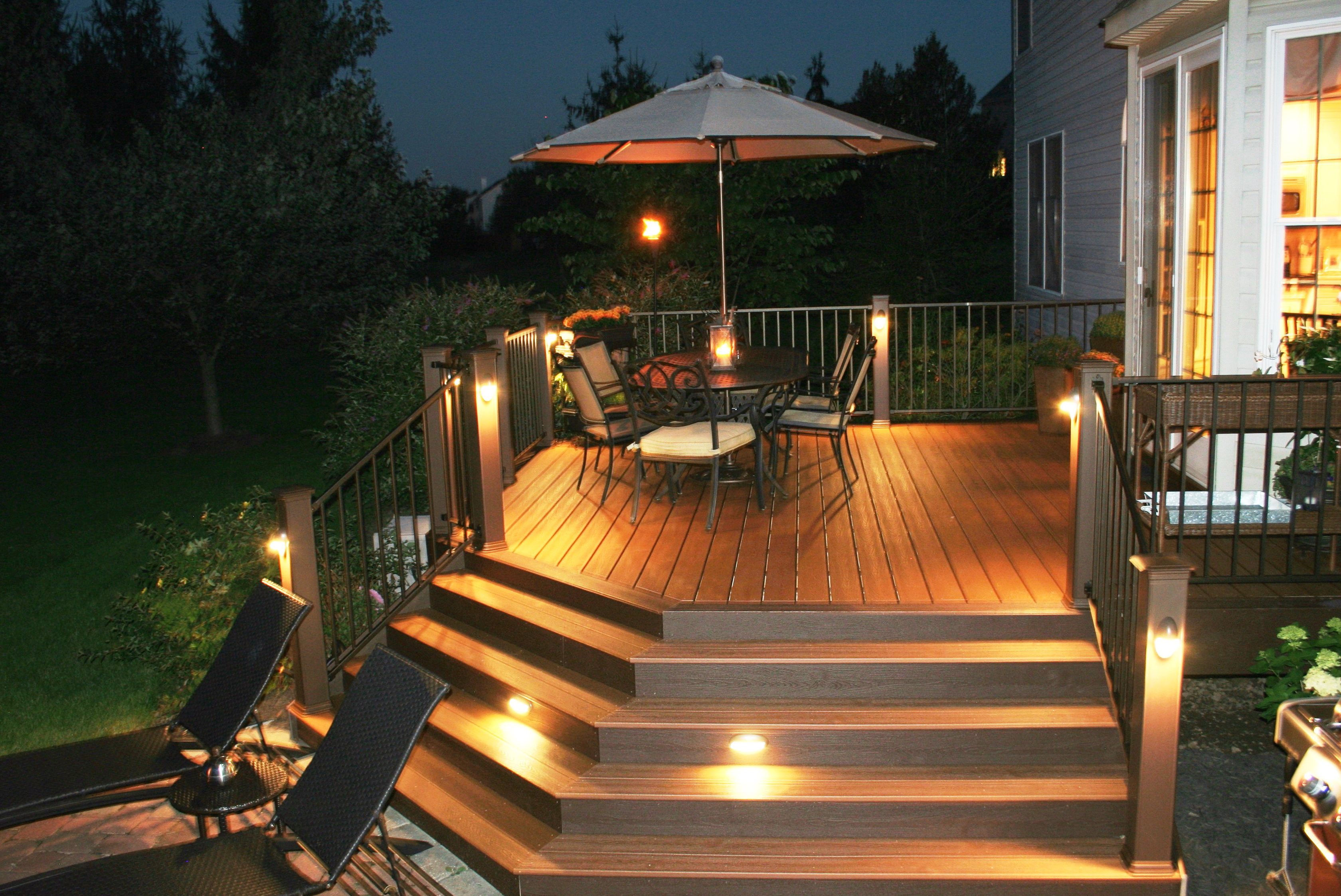 deck post lighting fixtures home design ideas. Black Bedroom Furniture Sets. Home Design Ideas