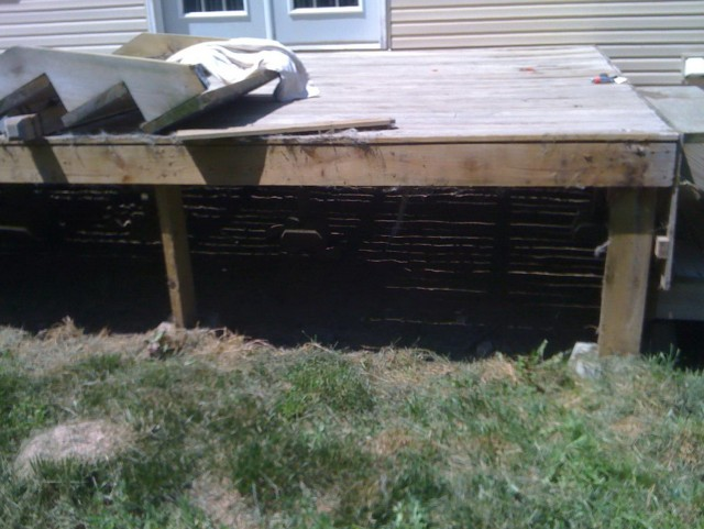 Deck Precast Footings