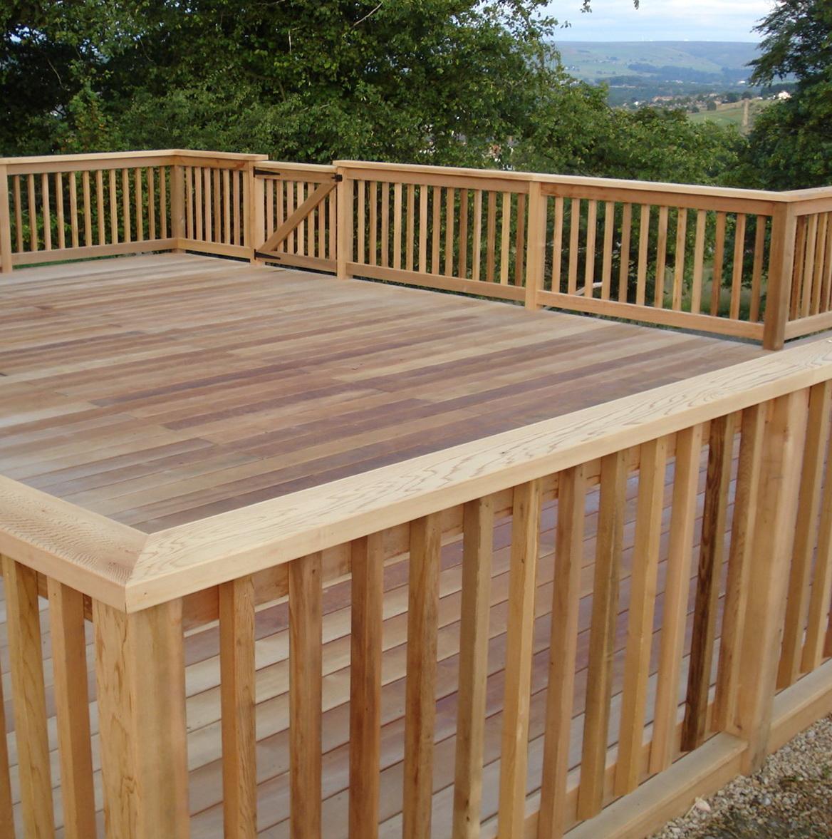 Deck rail designs ideas home design ideas for Wood deck design plans
