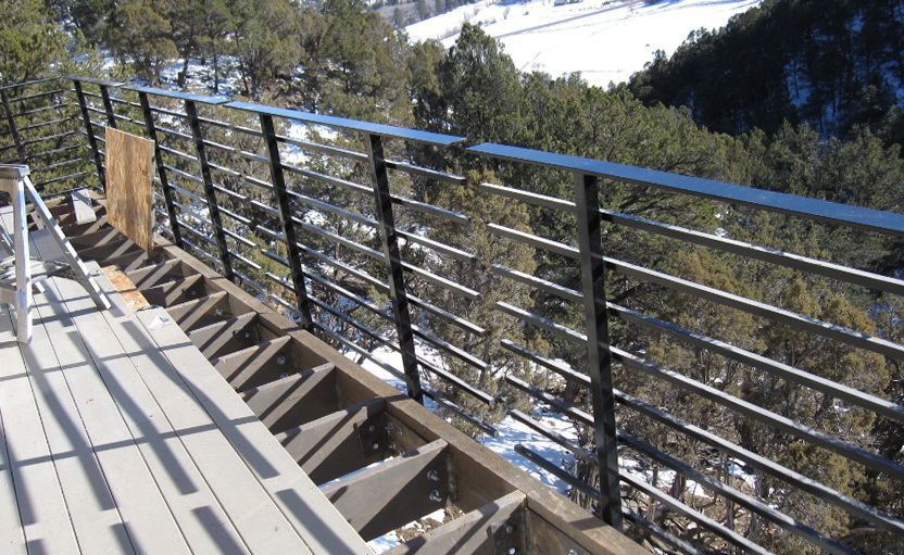 Deck Railing Horizontal Tubes Home Design Ideas