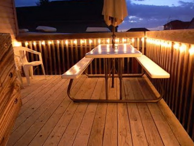 Deck Railing Lighting Ideas