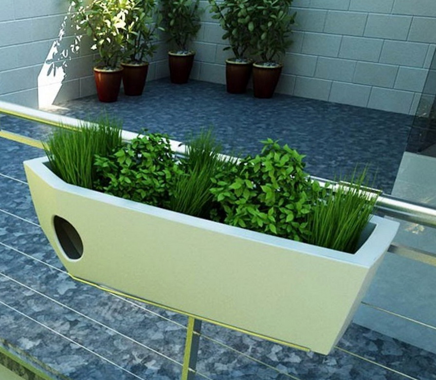 Deck Railing Planter Boxes Plans Home Design Ideas
