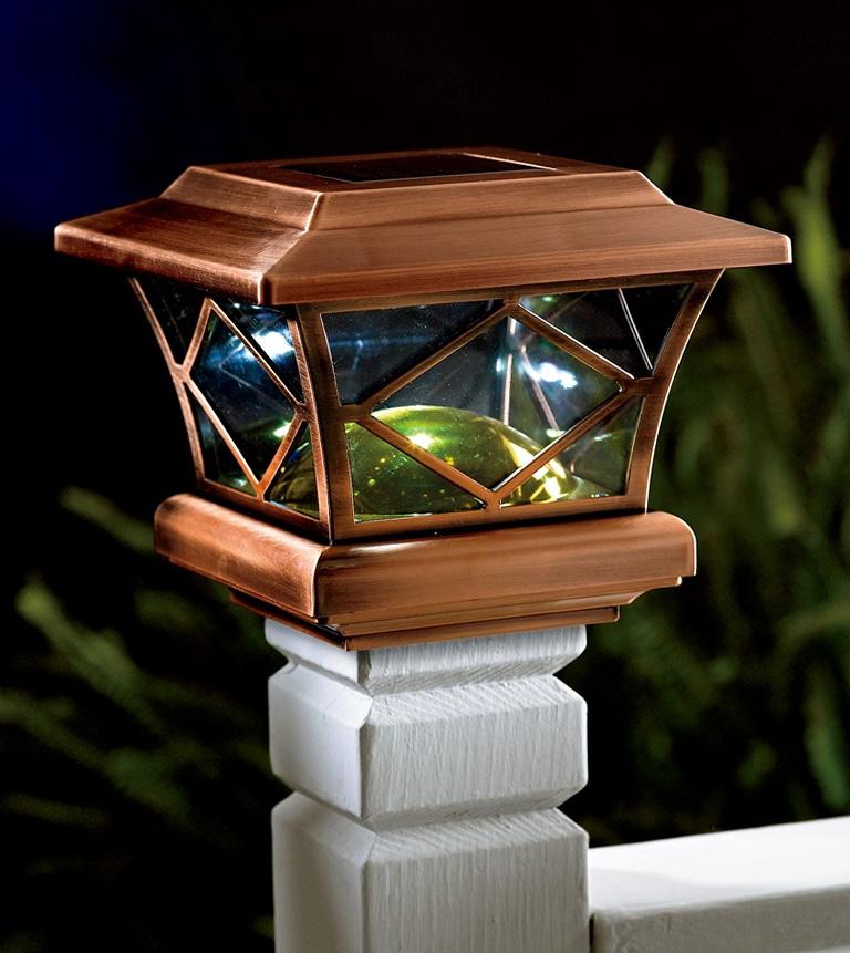 Deck Solar Lights Post Caps Home Design Ideas