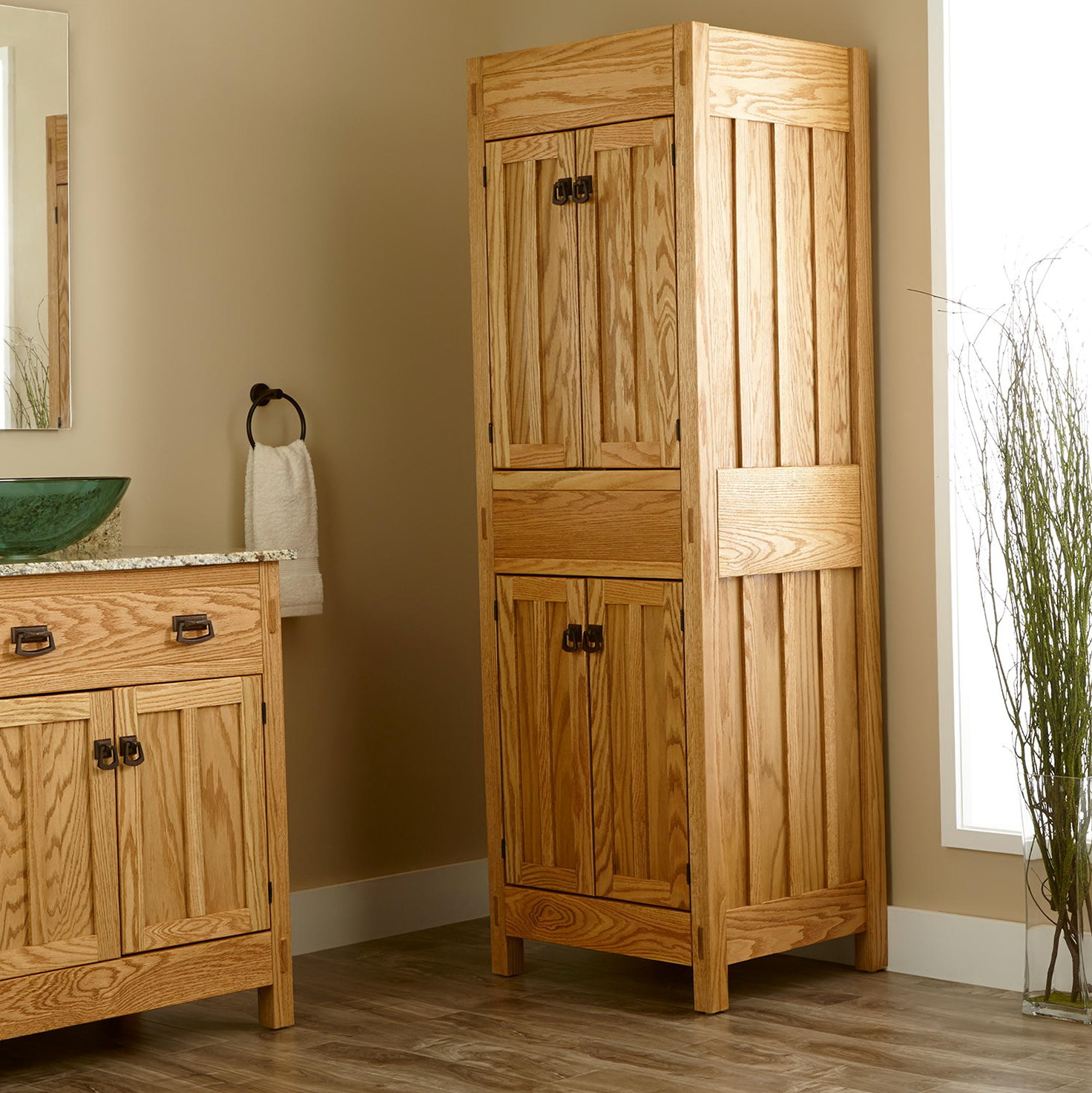 Freestanding Bathroom Linen Closet Home Design Ideas