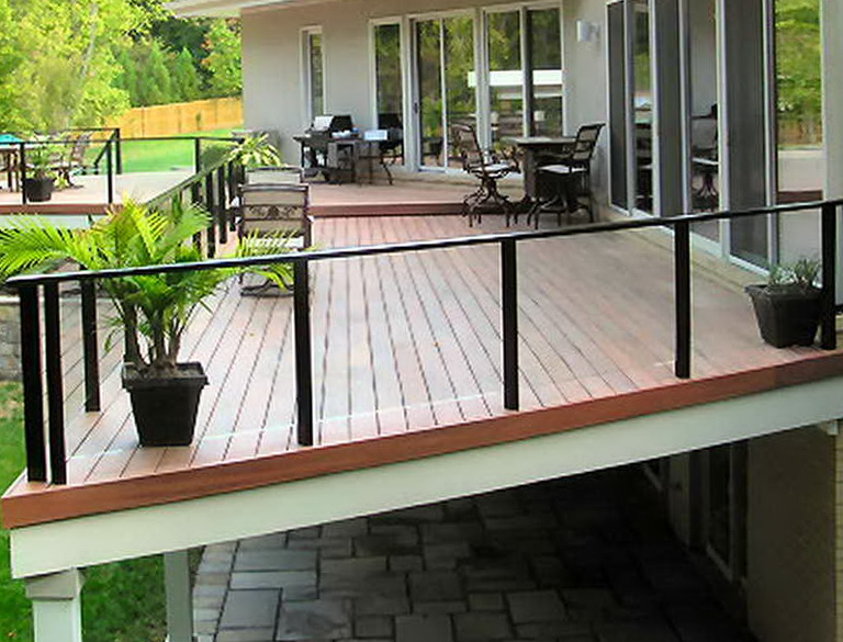 Glass deck railing systems lowes home design ideas