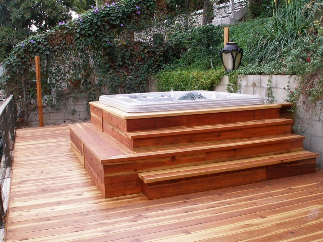 Hot Tub Decks Photos