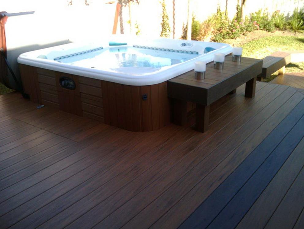 Hot Tub Decks Pictures
